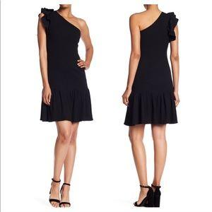 Rebecca Taylor One Shoulder Ribbed Jersey Dress XS